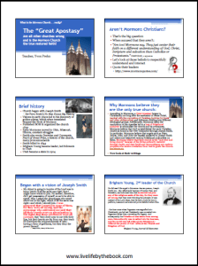 Great Apostasy handouts