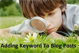 How To Add Keywords In Blog Post For SEO In Blogger