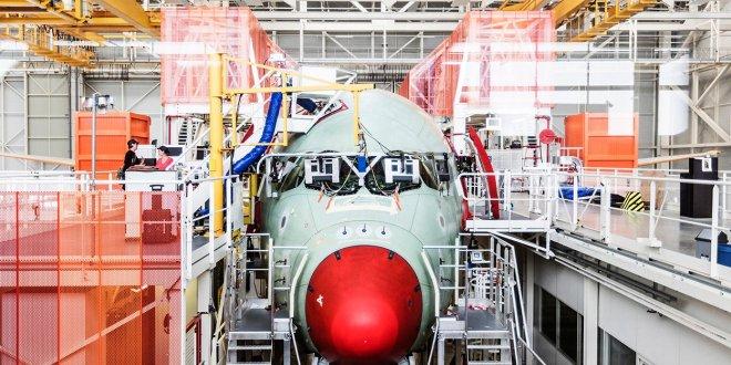 Eerste A350 Lufthansa in productie – foto's