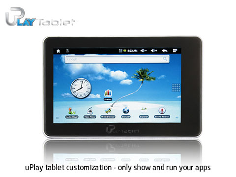 uPlay tablet customization only show and run your apps