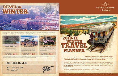 17 Great Travel Brochure Examples Fit for Globetrotters   UPrinting Grand Canyon Railway