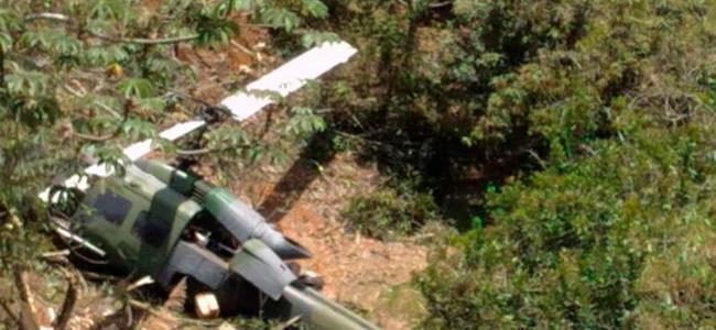 Emergencia por helicóptero del Ejército que cayó en Copacabana
