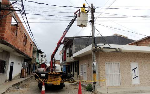 Modernización del sistema de alumbrado público en Carepa
