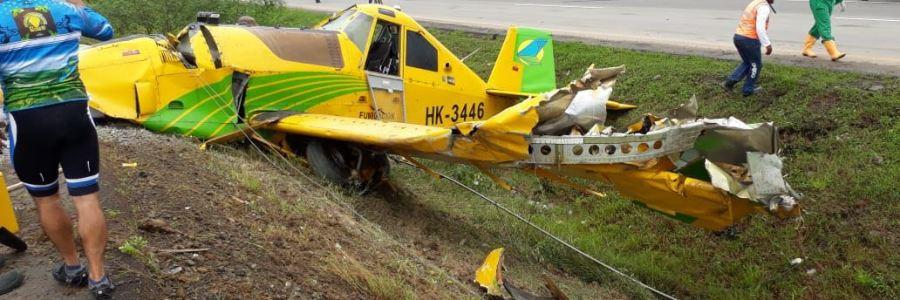 Lesionados  por   accidente de avioneta  en   Urabá