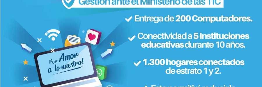 Alcalde  de Carepa realizó importante gestión ante el Ministerio de las TIC: