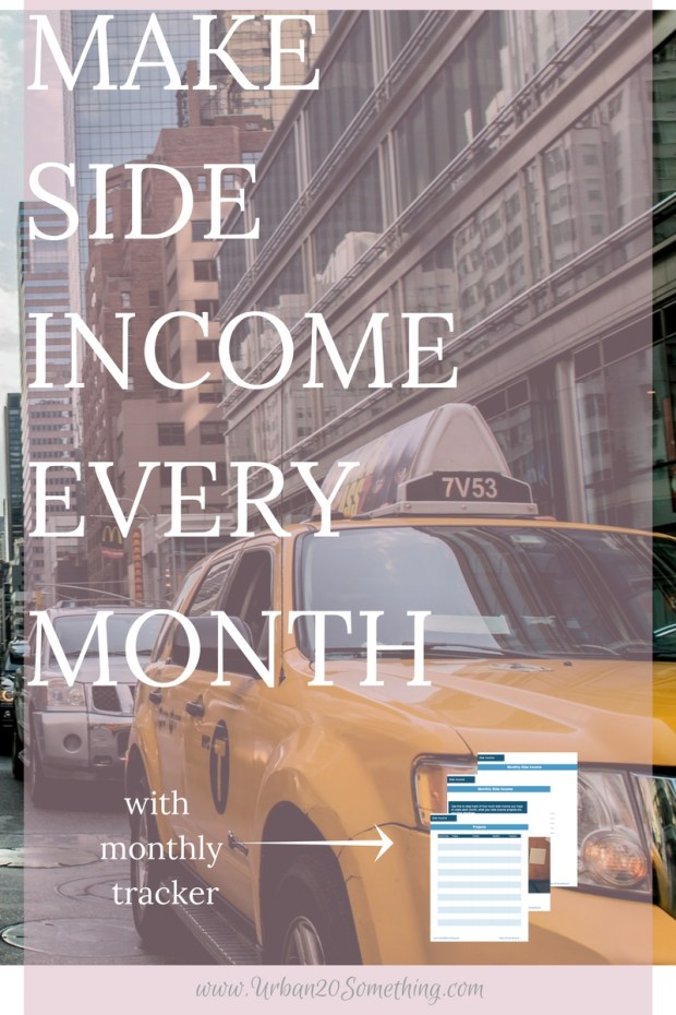 Side income is one of the biggest benefits of being a millennial! You can make money in ways like never before. Click through for a list of ways to make side income each month! Which will you choose? Comes with a side income tracker!