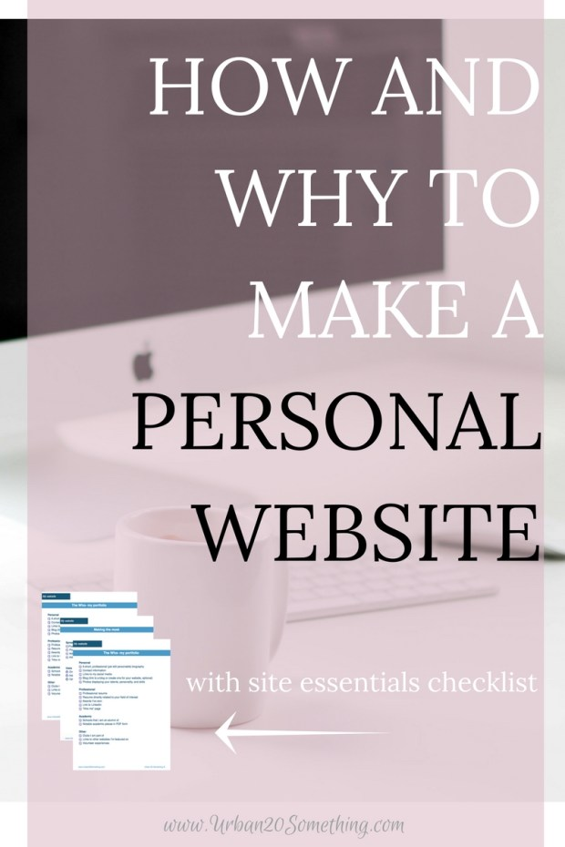 A personal website is not just for freelancers or photographers. It is the key to millennials' success. They are your digital platform for displaying your accomplishments, your experience, your skills, and your interests. More than that, they're your way to show the world who you are and your creativity. Click through to learn why you need one, what you can do with it, and how to make one. You'll also get your free checklist to make sure you're not missing any of the essentials of your site!