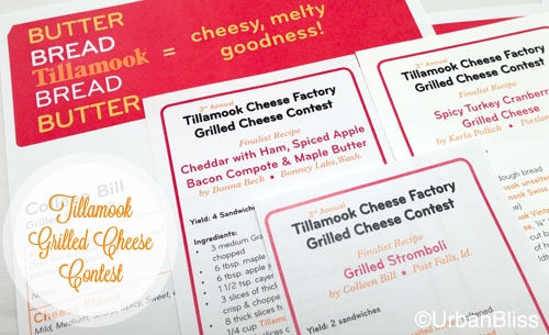 Tillamook Grilled Cheese Contest - recipes
