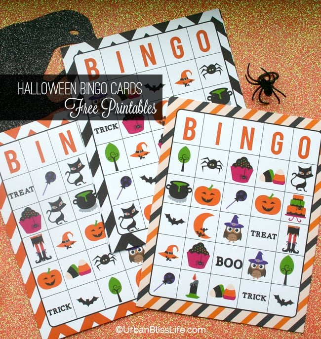 [DIY Bliss] FREE Halloween Bingo Card Printables