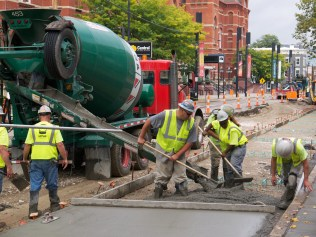Cincinnati Streetcar Construction