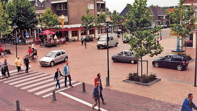 Woonerf in Drachten, Netherlands