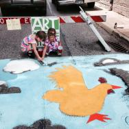 Art on the Streets Sidewalk Painting at SSOM [Provided]