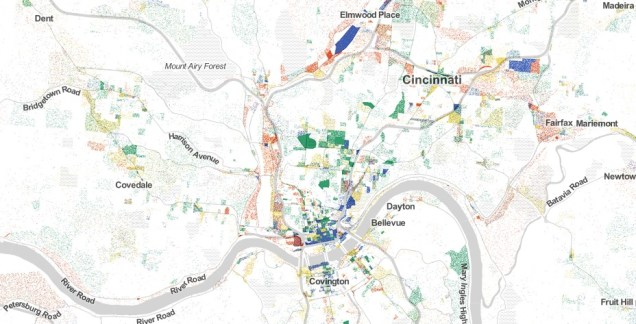 Cincinnati City Employment Dot Map