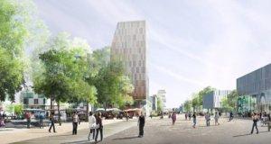 La ZAC comprendra une tour de 60 mètres qui mixera logements et bureaux et une autre de 100 m, réservée à des bureaux / DR La ZAC comprendra une tour de 60 mètres qui mixera logements et bureaux et une autre de 100 m, réservée à des bureaux.