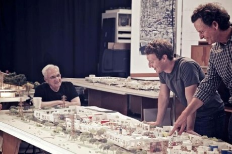 Frank Gerhy Facebook 460x305 Larchitecte Frank Gehry va agrandir le sige social de Facebook