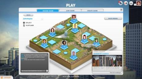 """Vue du mode """"Région"""" de SimCity : jusqu'à 16 villes peuvent être créer. Crédits photo : EA / Maxis"""