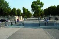 La nouvelles traversées piétonnes devant le jardin des Tuileries.
