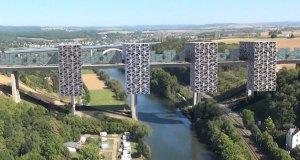 Vision projetée du Pont de l'Avenir (crédits image : Egenolf)