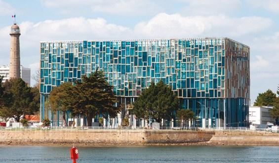 Vue générale du Péristyle - Maison de l'Agglomération de Lorient ©Stéphane Cuisset