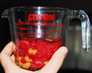 One cup mashed berries.