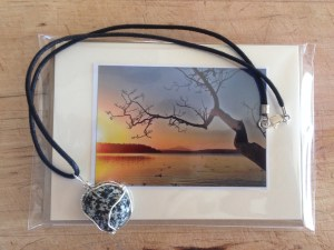 Cards and a stone necklace!