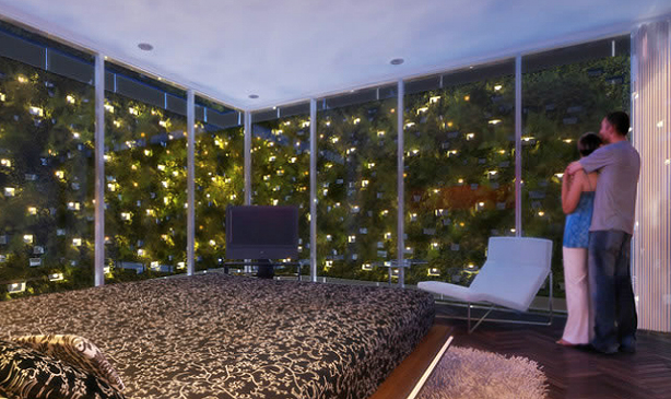 vertical garden apartment tips for growing automating your own vertical indoor bosco. Black Bedroom Furniture Sets. Home Design Ideas