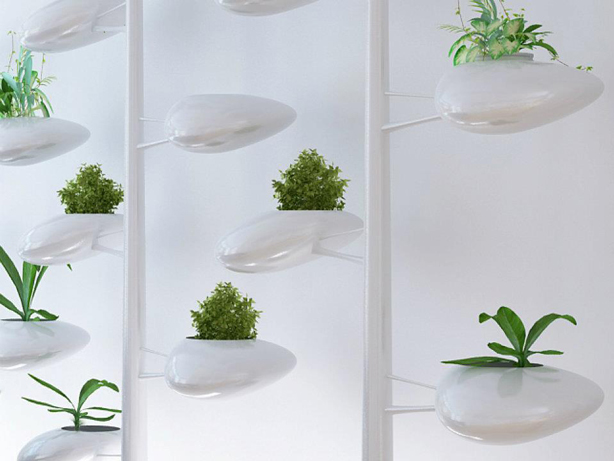 Self watering indoor hydroponic vertical garden system for Garden pods to live in