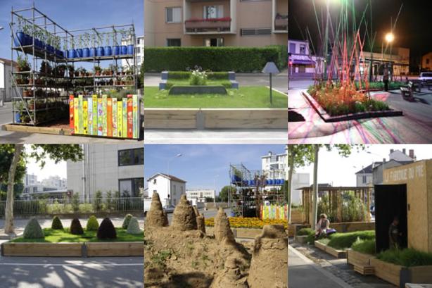 Garden and Outdoor Design Follies on Streets of Lyon - Urban Gardens