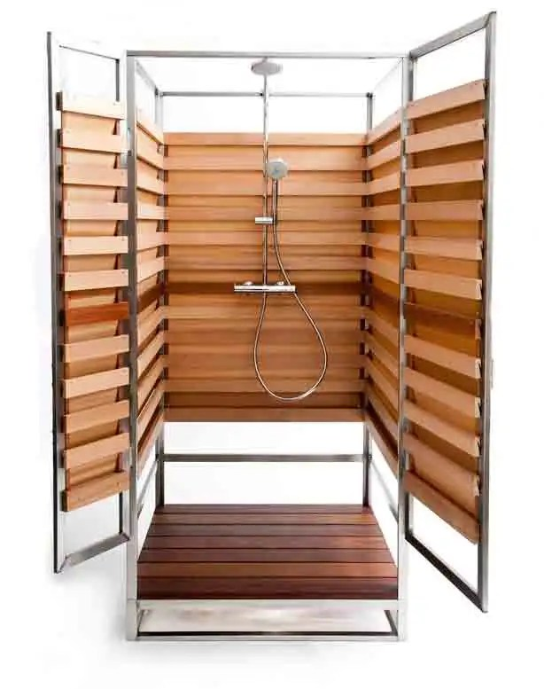 Stylish Outdoor Showers for Small Urban Spaces Too - Urban Gardens
