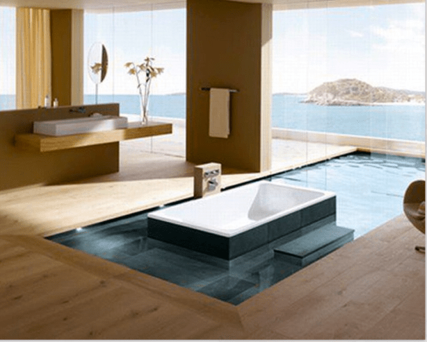Sunken Tub in Water