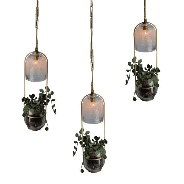 Grow Light Combination Planter Pendant Lamp