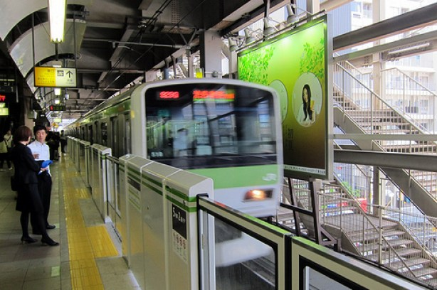 Train stations in Japan have rooftop gardens for commuters