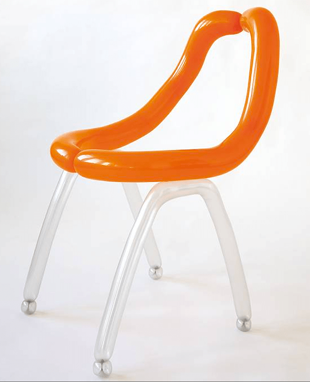 Merveilleux Oelerman Balloon Chair Orange