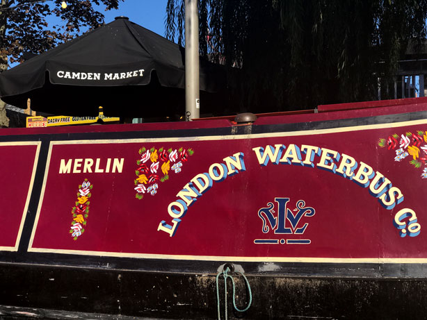 London Waterbus canal cruise in Little Venice.
