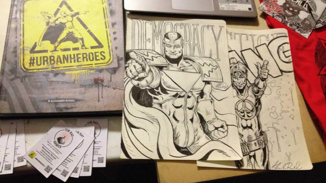#UrbanHeroes and some sketches at Borda Fest, at Lucca Comics and Games