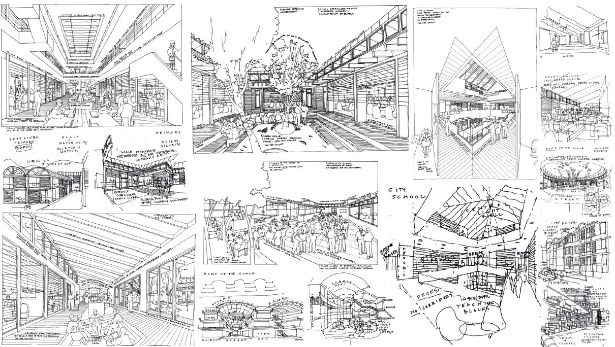 Exellent Architecture Design Sketches Dunlop Out Core In Decorating