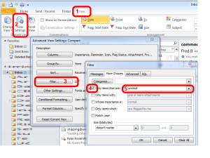 Outlook 2010 How to View Unread Messages