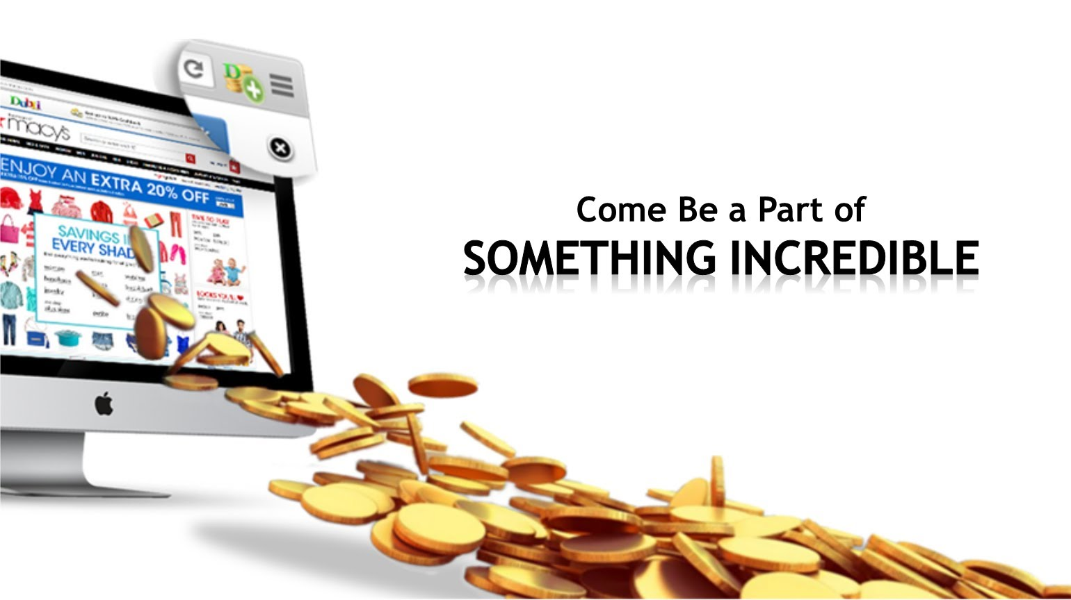 Cash back rebates network--online shopping to save money tools
