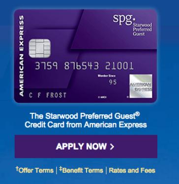 """""""Deal Gone"""" SPG credit card limit 30K Offer due today!"""