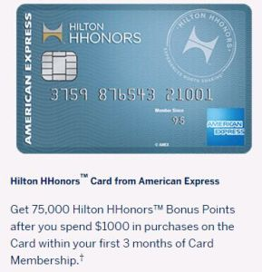 """75k card back,"" AMEX Hilton HHonors credit card profiles"