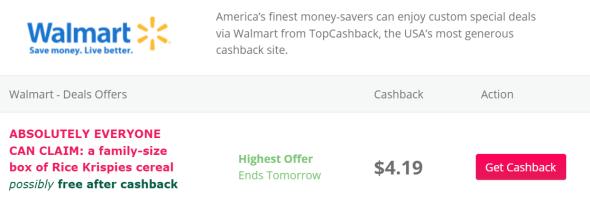 【9/15更新:免费早餐燕麦,家庭装】返现网TopCashBack(TCB)使用指南