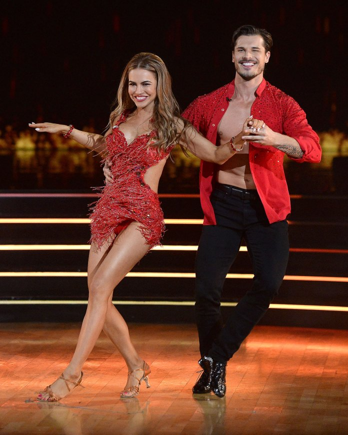 Gleb Savchenko All Smiles Dancing With The Stars Chrishell Stause