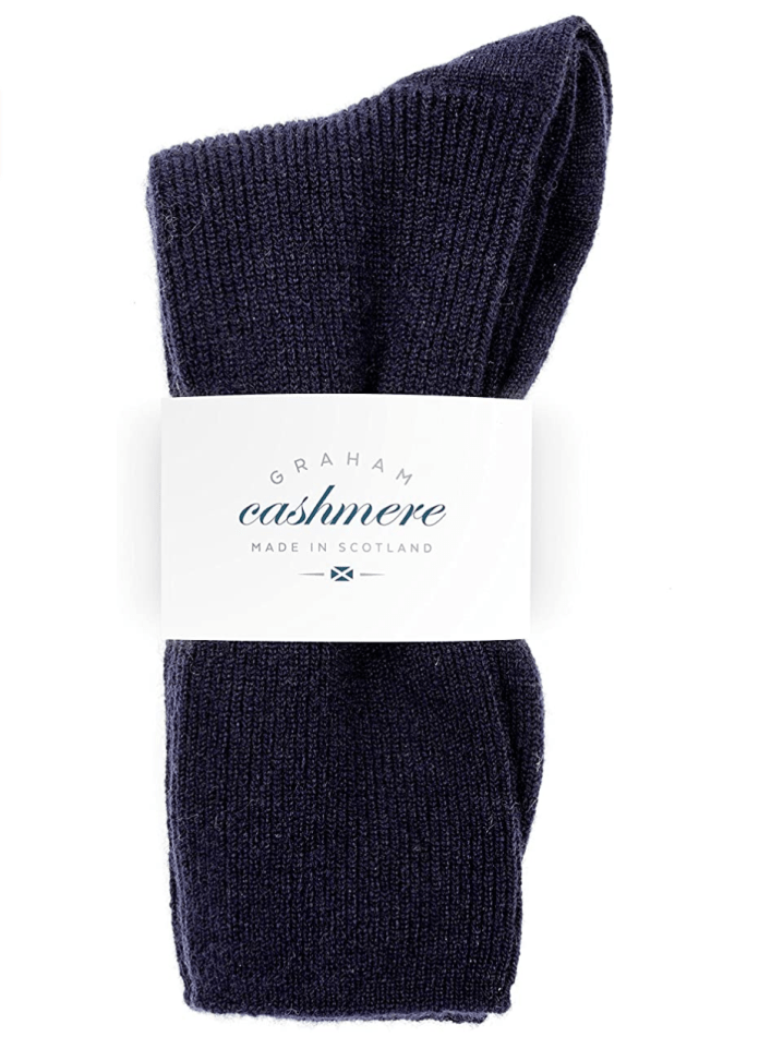 Graham Cashmere Women's Scottish Cashmere Rib Socks