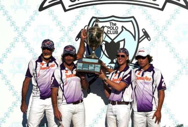 Sterling Cup champion Travieso players Hugo Barabucci, Sebastian Merlos, Tony Calle and Torito Ruiz.