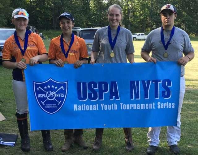 Gardnertown Polo Club NYTS Qualifier Tournament 2 All-Stars: (L to R) Lael Cashen, Nick Divalentino, Fiona Sills, Ben Bruce.