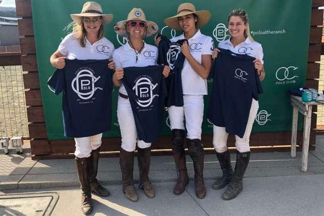 OC Hookers (L to R) Shelley Geiler, Jillian Stewart, Sofia Chamberlain and Kelli Newton.