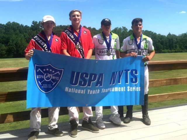 St. Louis Polo Club NYTS Qualifier All-Stars: (L to R) David Werntz, Vance Miller III, Max Weiser, Robson Macartney.
