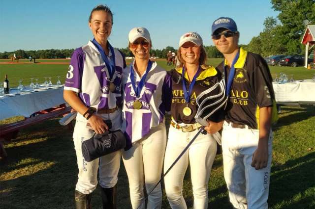Toronto Polo Club NYTS Qualifier All-Stars (L to R) Jenna Tarshis, Molly Houlton, Clair Hearn, Hunter Van Der Burght.