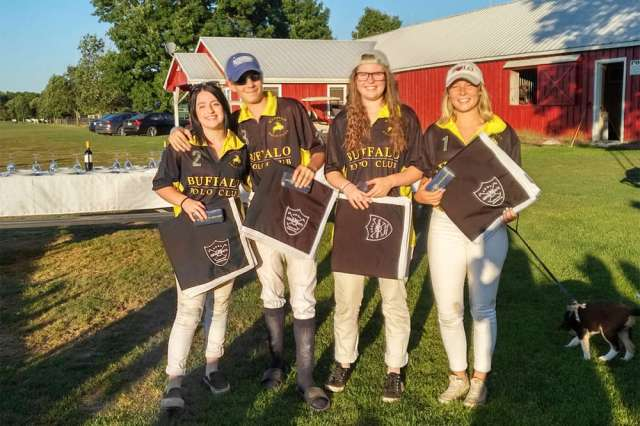 Toronto Polo Club NYTS Qualifier champions Buffalo Polo Club (L to R) Kenzie Ridd, Hunter Van Der Burgt, Catherine Von Bakel, Clare Hearn.