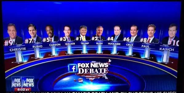 9pm Fox News Debate